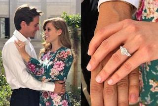 Beatrice di York si è fidanzata: abito a fiori e anello di diamanti in mostra per le foto ufficiali
