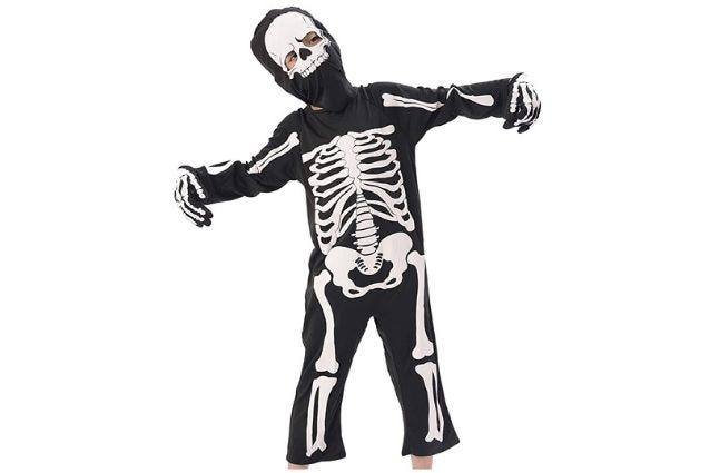 Maschera Bambini Ragazzi Tuta Ignifuga Costume Spaventoso Zombie Halloween Fancy Dress attenzione