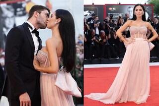 Giulia De Lellis a Venezia con Andrea Iannone: abito da principessa e baci sul red carpet