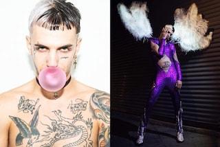 Achille Lauro, la trasformazione per il nuovo album: capelli bicolor e stile anni '90