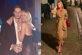 Alessia Marcuzzi mamma glamour: trench e gonne di pelle per fare visita al figlio Tommaso a Londra