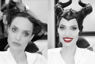 Angelina Jolie, da diva a Signora del male: la trasformazione con il make-up in Maleficent
