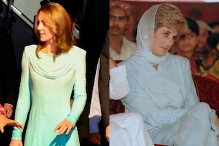 Kate Middleton arriva in Pakistan in gonna lunga e pantaloni: l'abito celeste è un omaggio a Diana