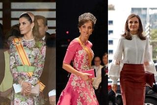 Letizia di Spagna, dal kimono alla gonna a matita: per il viaggio in Oriente non rinuncia alla tiara