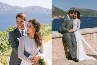 Rafa Nadal sposa Maria Francisca Perellò: i due abiti bianchi sono il trionfo dell'eleganza