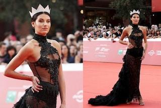 Carolina Stramare, Miss Italia mostra l'intimo al Roma Film Fest: è lei la più sexy sul red carpet