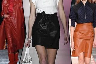 Gonne di moda per l'Autunno/Inverno 2019-2020: è il momento dei modelli di pelle ed eco pelle