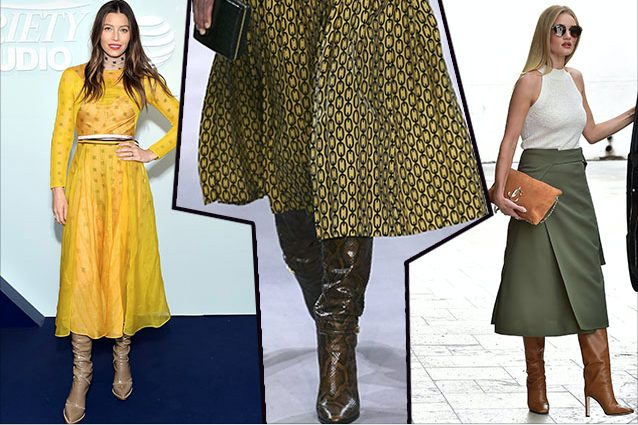 da sinistra Jessica Biel in Fendi, look Celine, Rosie Huntington–Whiteley