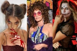 Halloween 2019, i costumi delle star: Cindy Crawford in versione hippie, la Canalis come uno zombie