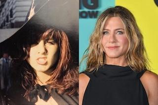 Jennifer Aniston da giovane, a 16 anni portava i capelli castani e la frangetta