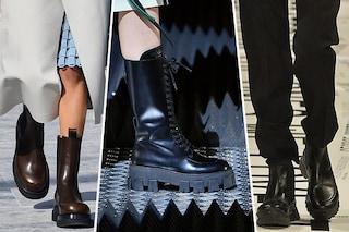 Scarpe di tendenza Autunno/Inverno 19-20: sono di moda gli anfibi maxi in stile Frankenstein