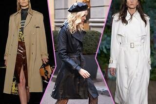 Trench di moda: i modelli in pelle e over sono il must per l'autunno 2019