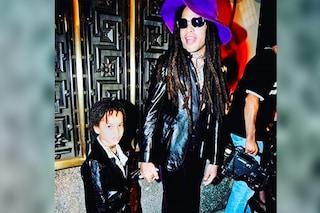 Zoë Kravitz da piccola con Lenny, papà e figlia sfoggiavano degli adorabili look coordinati in pelle