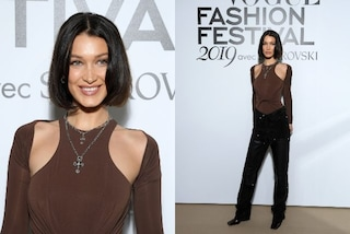 Bella Hadid ama gli anni '90: nuovo taglio di capelli e scarpe con la punta quadrata sul red carpet