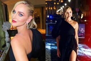 Chiara Ferragni, la prima di Unposted a Roma è in total black: incanta con monospalla e maxi spacco