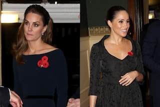 Kate Middleton con le calze velate, Meghan Markle in nero: è sfida di stile al Remembrance Day
