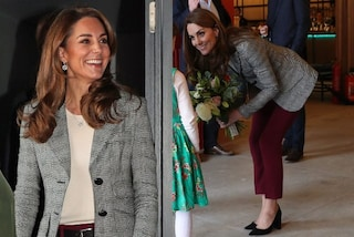 Kate Middleton passa allo stile casual: indossa i pantaloni e rinuncia ai tacchi a spillo