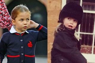 Charlotte è identica a Kitty Spencer da piccola: le principesse sono due gocce d'acqua