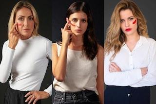Star e sportivi con un segno rosso sul viso: la campagna per combattere la violenza sulle donne