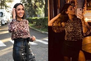 Caterina Balivo come Belén Rodriguez: il capo da avere per l'autunno 2019 è il top leopardato