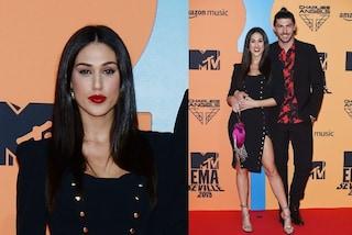 Cecilia Rodriguez agli Mtv Ema's 2019 cambia look, sfila sul red carpet con i capelli neri