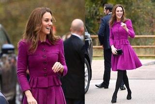 Kate Middleton dice addio alle calze color carne, in autunno indossa solo modelli extra coprenti