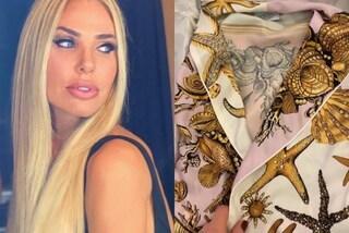 Ilary Blasi e la passione per le griffe: Donatella Versace le regala una vestaglia di lusso