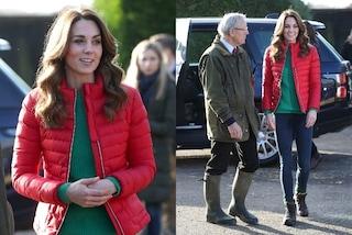 Kate Middleton rivoluziona il suo stile: addio bon-ton, ora passa a piumino e scarpe da trekking
