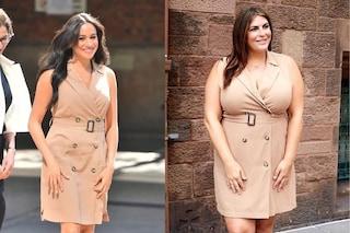 Katie, la sosia curvy di Meghan Markle: oltre la taglia 44 si può essere eleganti come principesse
