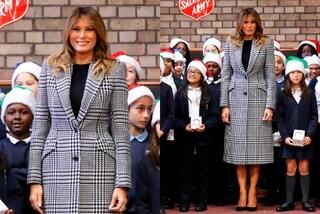 Melania Trump in Principe di Galles, è suo il cappotto più trendy dell'inverno 2020