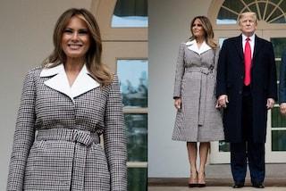 Melania Trump lo ha fatto ancora, il nuovo cappotto griffato costa più di 3mila euro