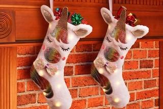 Addio alle solite calze della Befana: arriva la calza unicorno che si illumina