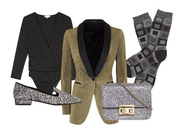 Body Claudie Pierlot, blazer Tagliatore, slippers Roberto Della Croce, minibag Furla, calzini Sara Borghi
