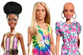 Barbie calva e con la vitiligine, Ken con i capelli lunghi: la bambola diventa sempre più inclusiva