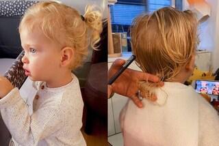 Il primo taglio di capelli di Leone, il figlio di Chiara Ferragni e Fedez non ha più la coda