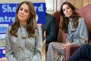 Kate Middleton regina di stile per il primo impegno del 2020: l'abito da 18 euro è più chic che mai