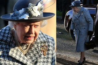 La regina Elisabetta osa in completo a quadri per la prima apparizione dopo l'addio di Harry e Meghan