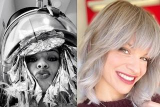 Alessandra Amoroso passa ai capelli grigi: il cambio look è drastico