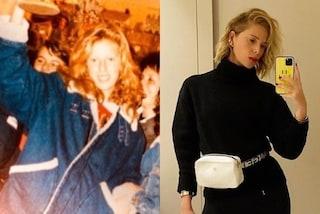 """Alessia Marcuzzi da adolescente con la giacca di jeans over: a 12 anni era già un """"maschiaccio"""""""