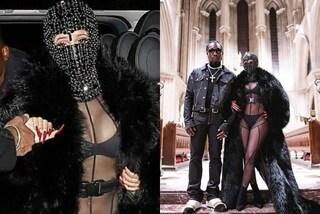 Cardi B con la maschera di cristalli alle sfilate parigine: l'originale accessorio costa 10mila euro
