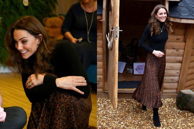 Kate Middleton con la gonna Zara