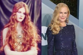Nicole Kidman con i capelli rossi e mossi, nella foto del passato è quasi irriconoscibile