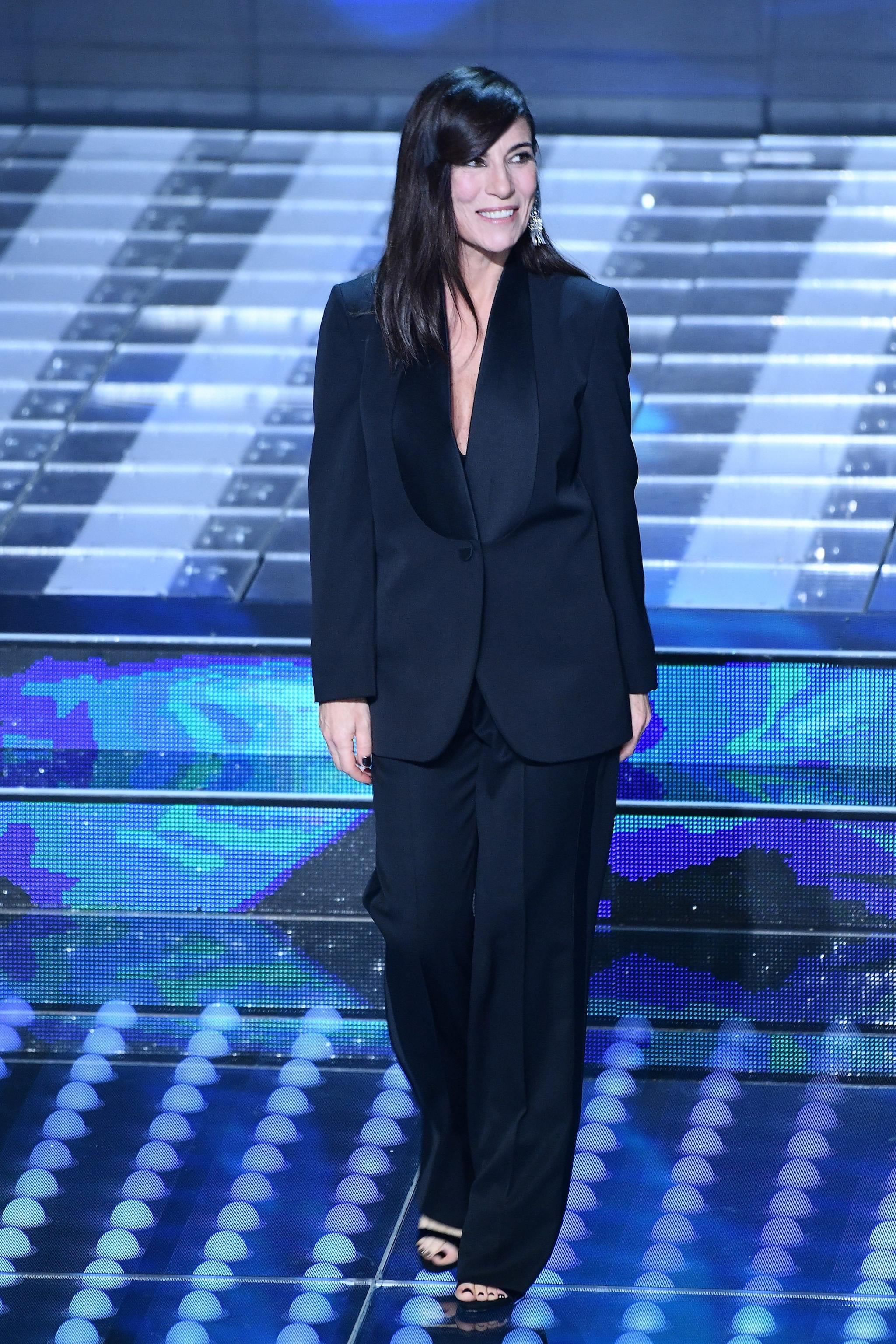Paola Turci in Stella McCartney sul palco di Sanremo 2017