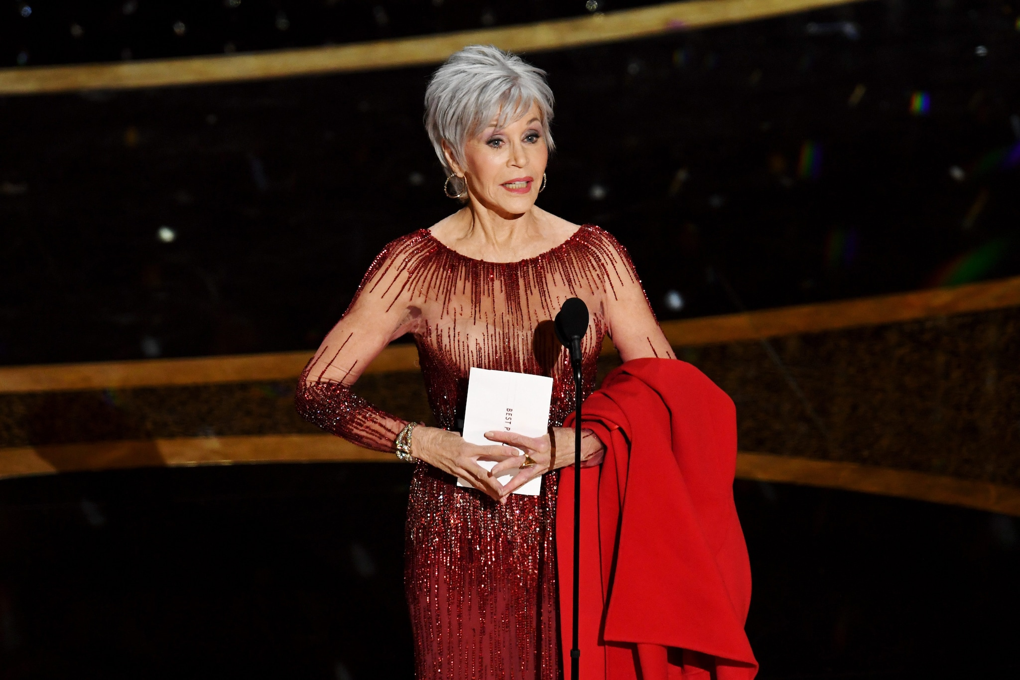 Jane Fonda in Elie Saab Couture a Cannes 2014