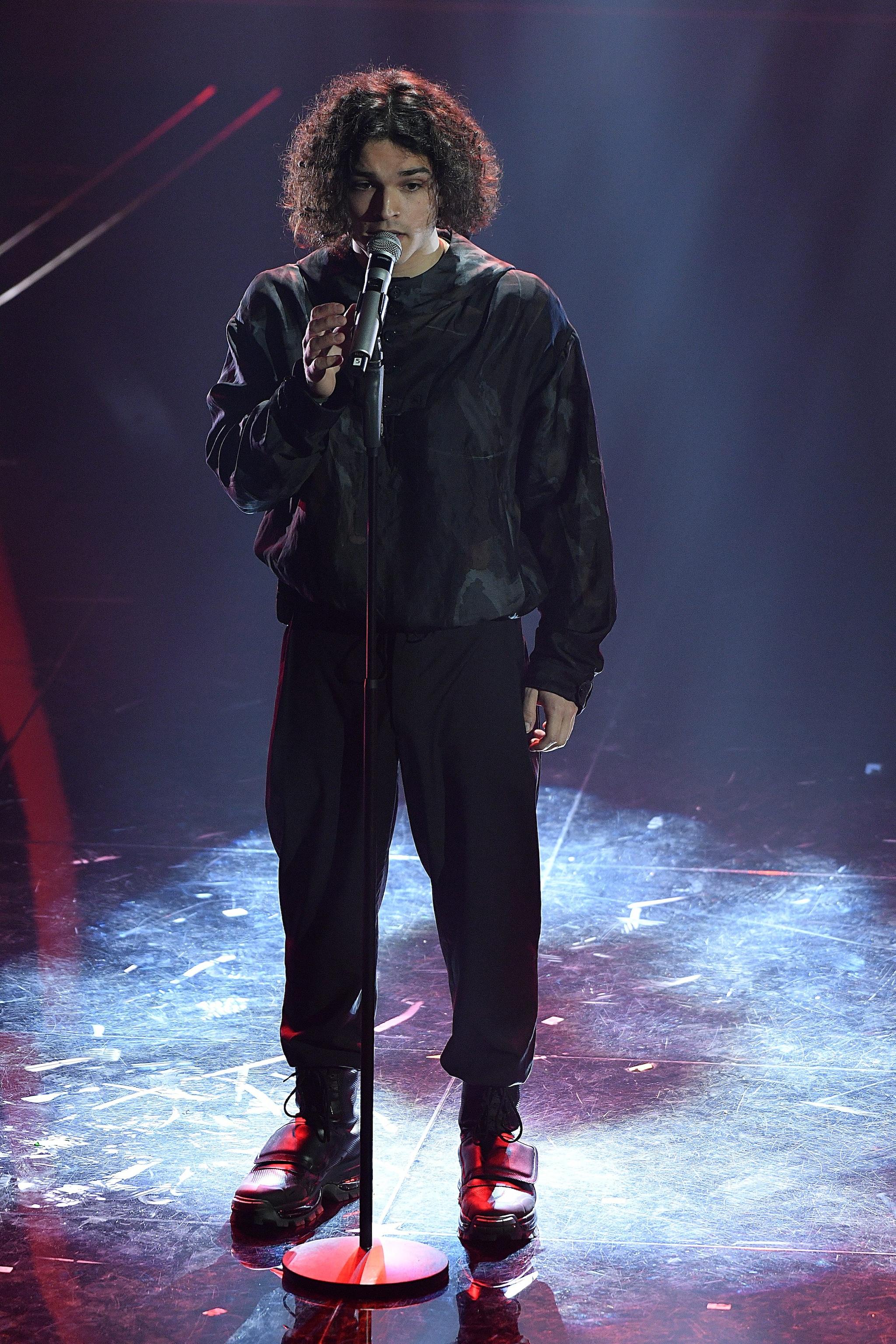 Leo Gassmann nella prima serata di Sanremo 2020