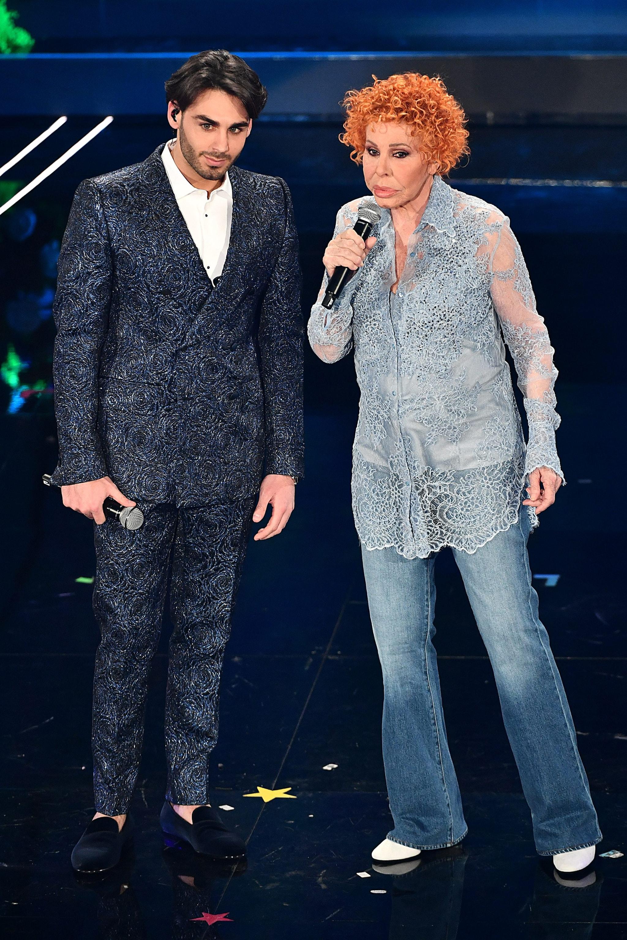 Alberto Urso e Ornella Vanoni nella terza serata di Sanremo