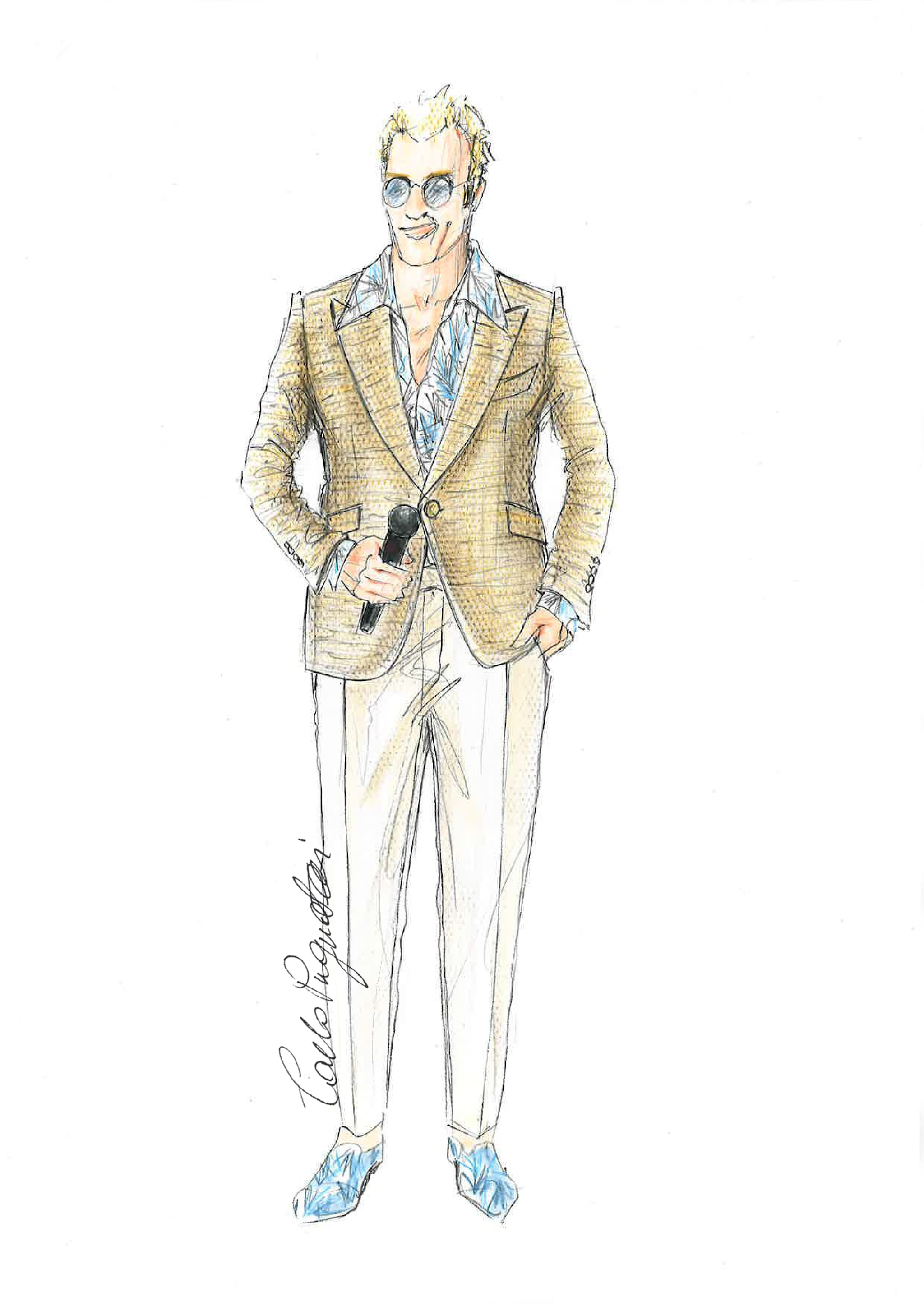 Il look di Raphael Gualazzi a Sanremo 2020 firmato Carlo Pignatelli