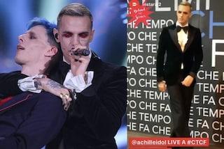 Achille Lauro, dopo i travestimenti di Sanremo ritorna allo smoking a Che Tempo Che Fa