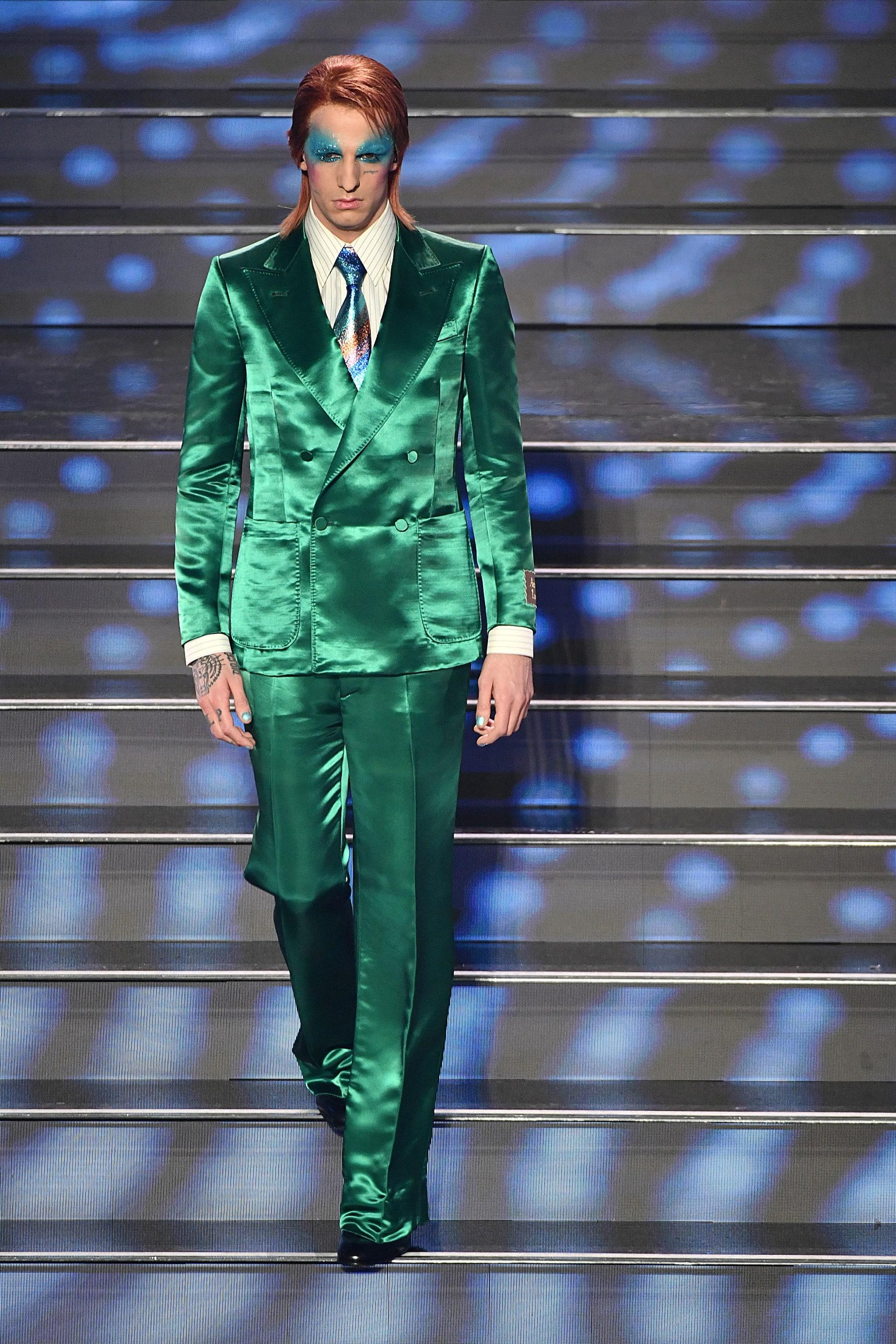 Achille Lauro in Gucci nella terza serata di Sanremo