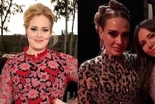Adele, svolta di stile dopo il dimagrimento: con abito leopardato e maxi cerchi è più trendy che mai